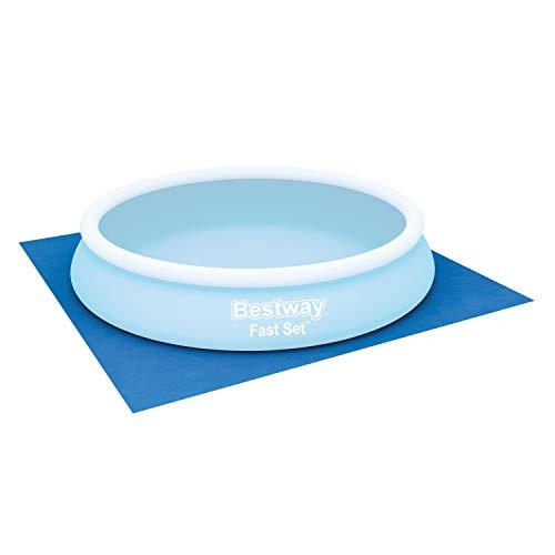 Flowclear quadratische Bodenplane 396 x 396 cm für Aufstellpools bis Ø 366 cm, blau