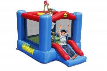 Happy Hop 9270 Slide and Hoop Bouncy Castle, Mehrfarbig, bunt
