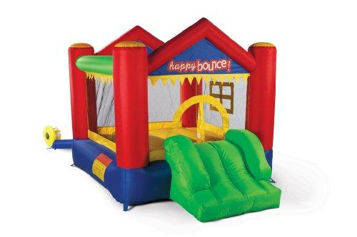 Avyna Hüpfburg Party House Fun 3in1 mit Rutsche und Basketballkorb (für bis zu 3 Kinder)