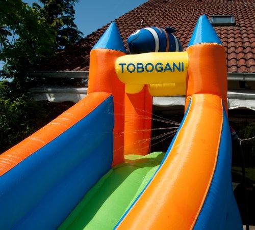 Tobogani – Planschbecken Wasserpark mit Rutsche Aufblasbar 12 m² (inklusive Standgebläse)