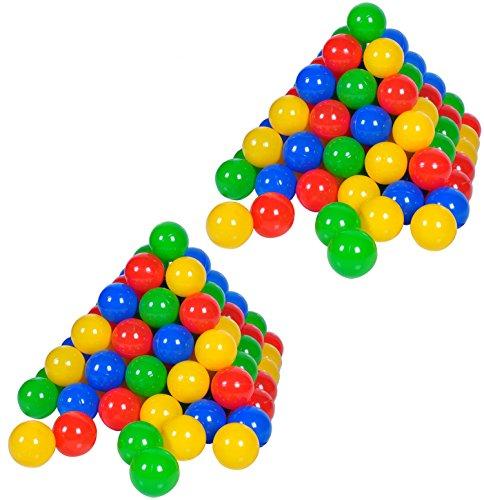 Knorrtoys 56781 - 200 Bälle in knalligem Blau, Rot, Gelb und Grün ohne gefährliche Weichmacher Ø ca. 6 cm - TÜV...