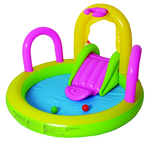 Jilong Sliding Spray Pool 132x147x84 cm Kinderpool Planschbecken Kinder...