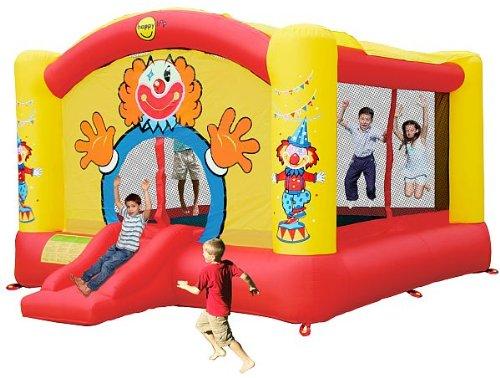 Happy Hop Hüpfburg Super Clown 18,5m² Art. 9014N inkl. Gebläse