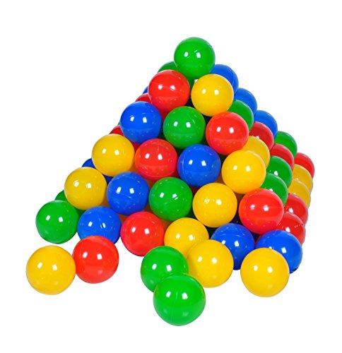 Knorrtoys 56789 - 100 Bälle in knalligem Blau, Rot, Gelb und Grün ohne gefährliche Weichmacher Ø6 cm - TÜV...