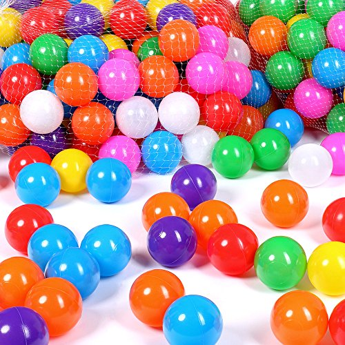 Schramm® 200 Stück Bälle für Bällebad 6cm Bälle für Kinder Bällebäder Babybälle Plastikbälle Ballpool Ohne...
